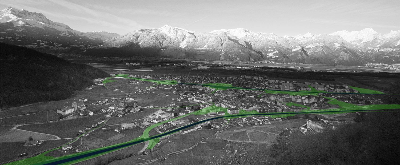 Image directrice pour la ville d'Aigle, analyse paysagère, VIMADE Architectes paysagistes