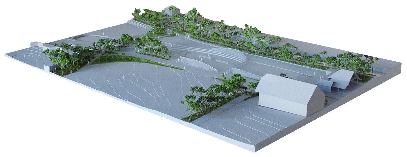Maquette de présentation, Vimade Architectes paysagistes Genève.