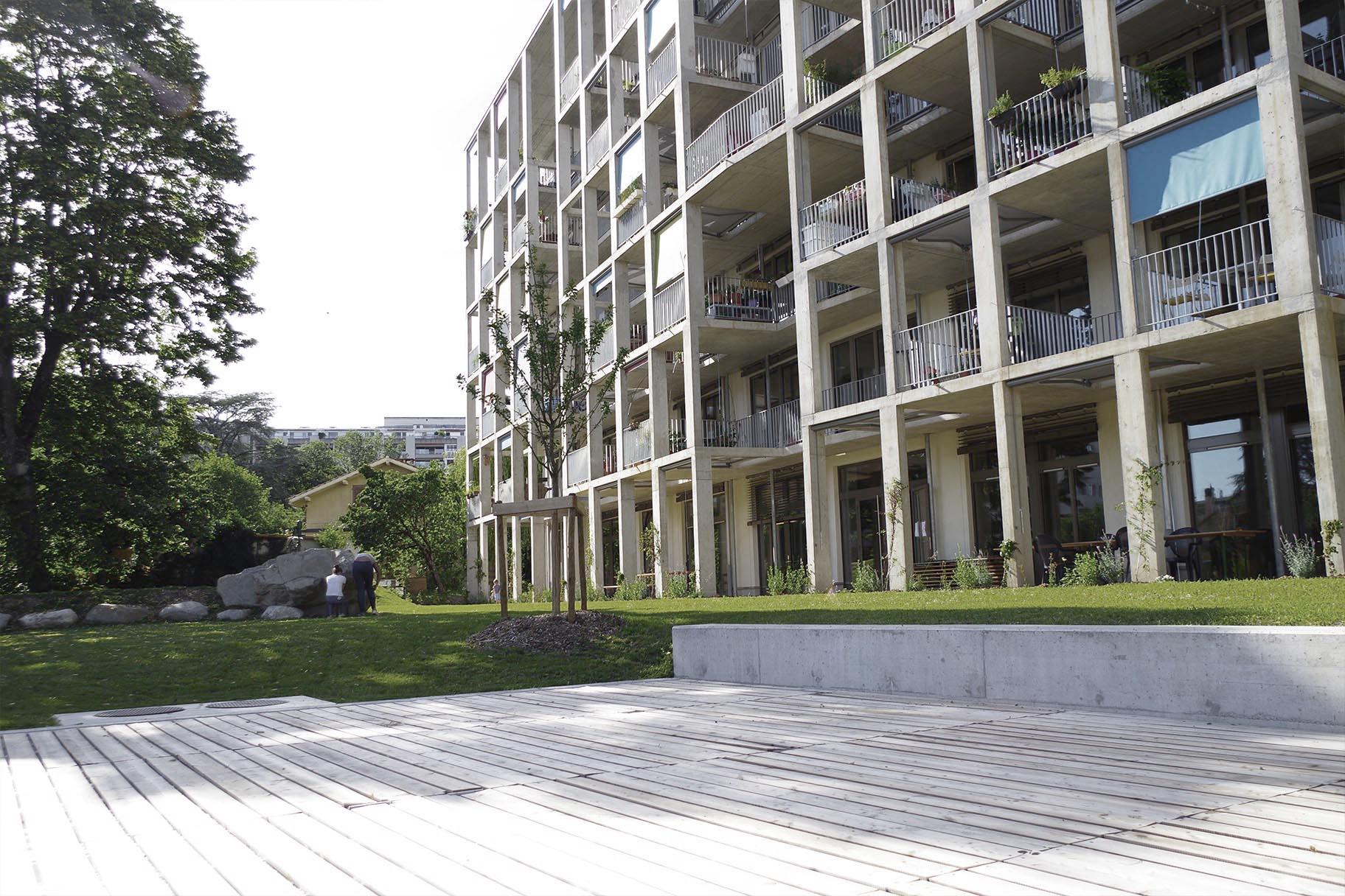 Immeuble cologique soubeyran 7 vimade architectes paysagistes gen ve - Immeuble ecologique ...