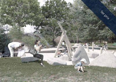 Espace de jeux du parc des Franchises