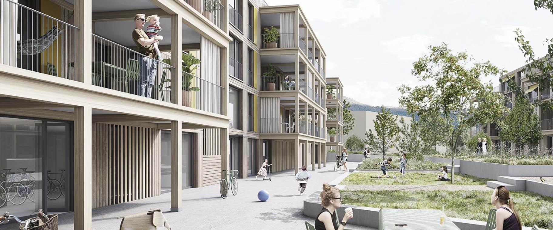 perpective-ecoquartier-echallens-record-crepon-est-codha-vimade-al30-architecture-paysage-cours-coopérative-terrasses-enfants-entete