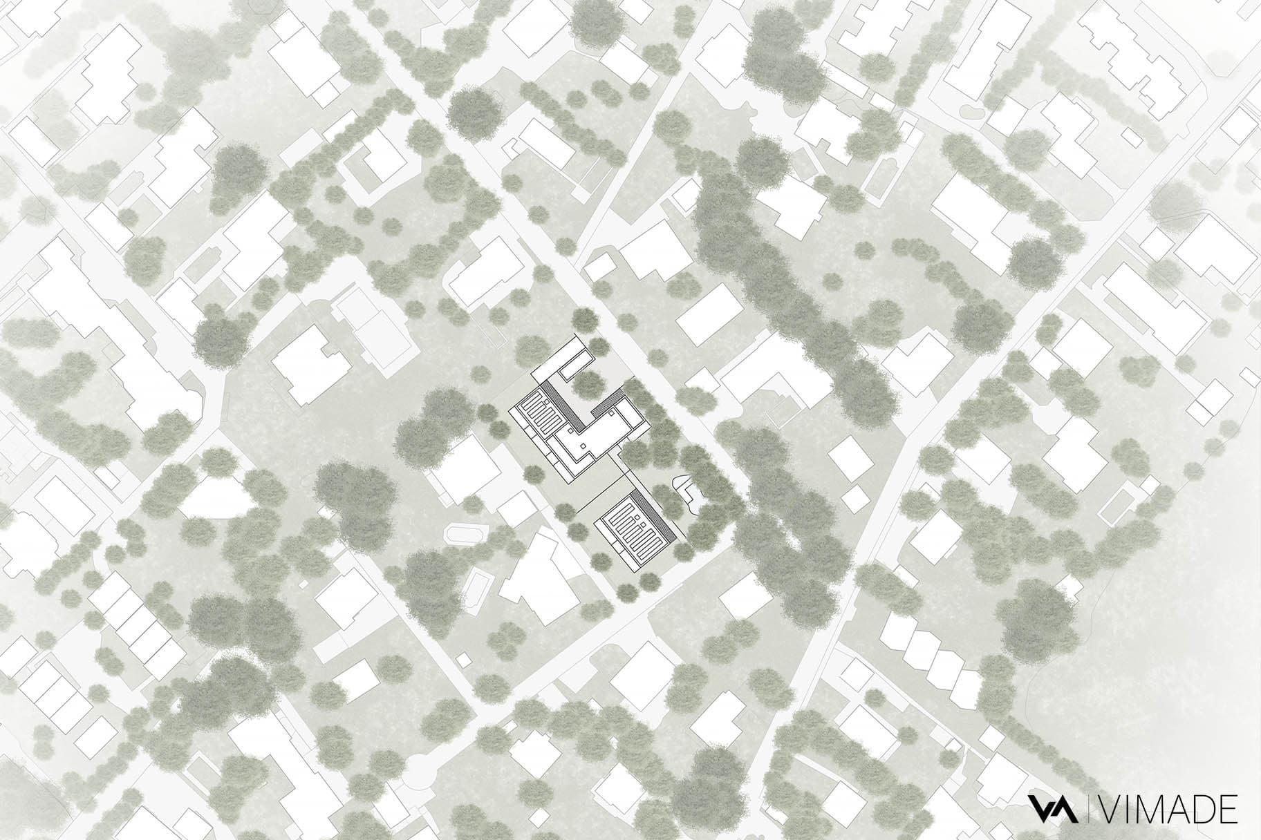 Projet d'aménagement paysager écologique pour des logement collectifs à Pinchat, Veyrier par VIMADE Architectes paysagistes.
